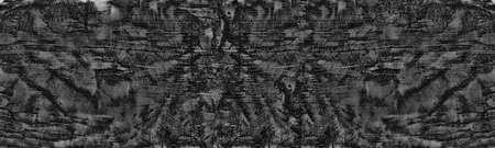 Black old shabby wall wide texture. Dark abstract grunge widescreen background