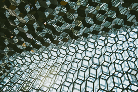 concave: Wall fron glass Stock Photo
