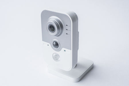 nightvision: CCTV camera isolated on white background, with clipping paths