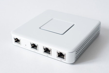 Generic Internet device router isolated over the white background