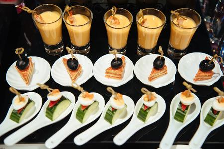 Coffee break prepare for serve guests attending seminar.break time in meeting room