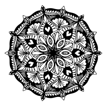 Mandalas for coloring book. Decorative round ornaments. Unusual flower shape. Oriental vector, Anti-stress therapy patterns. Weave design elements. Yoga logos Vector. Illustration