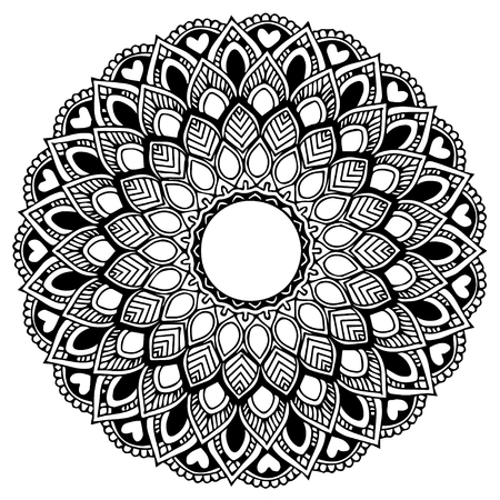 Mandalas for coloring book. Decorative round ornaments. Unusual flower shape. Oriental vector, Anti-stress therapy patterns. Weave design elements. Yoga logos Vector. Ilustracja
