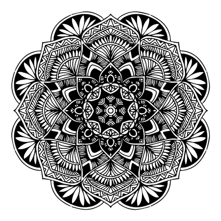 Mandalas for coloring book. Decorative round ornaments. Ilustracja