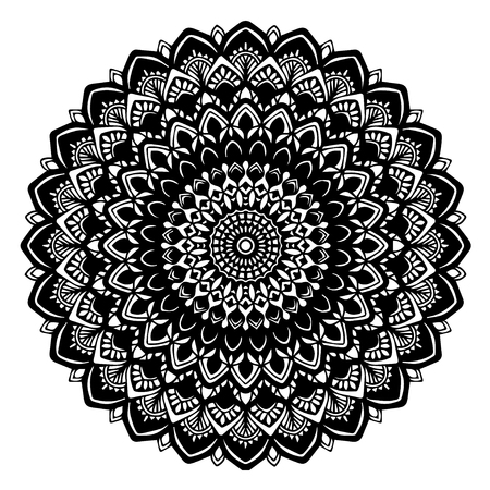 Mandalas for coloring book. Decorative round ornaments. Illustration