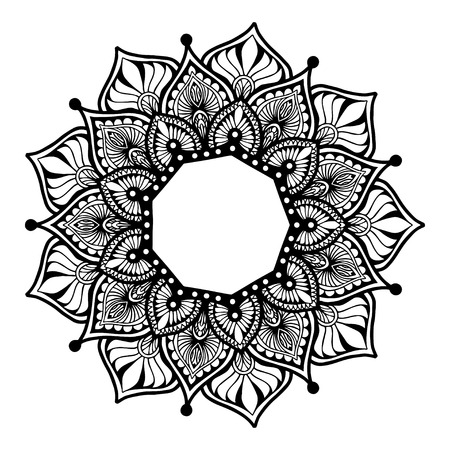 Mandalas for coloring book. Decorative round ornaments. Unusual flower shape. Oriental vector, Anti-stress therapy patterns. Weave design elements.