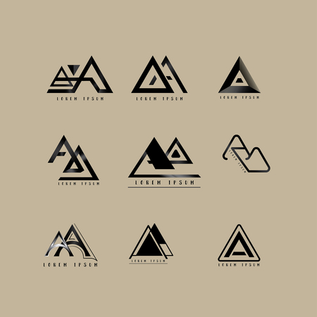 Aa Logo Vector, Design Letter with Creative Font Set.