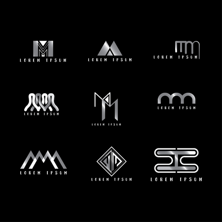 Mm Logo Vector, Design Letter with Creative Font Set.