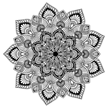 Mandalas Round for coloring book. Decorative round ornaments. Unusual flower shape. Oriental vector, Anti-stress therapy patterns. Weave design elements. Yoga logos Vector. Logo