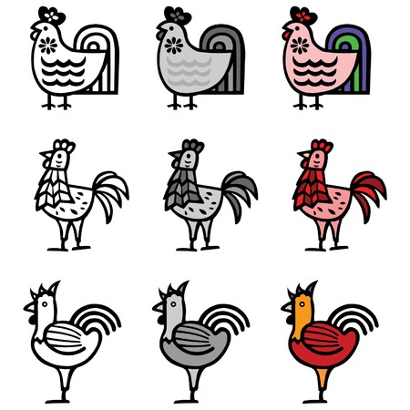 vector illustration  hen: chicken