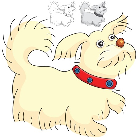 teamwork cartoon: dog