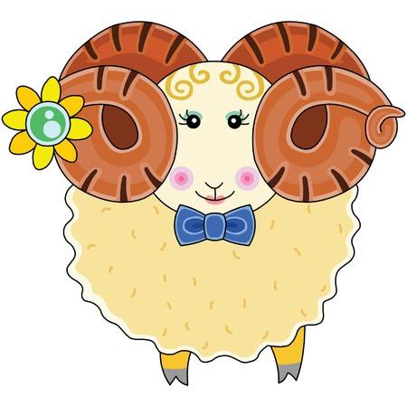 vector cartoons: goat