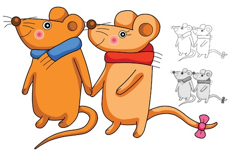 year of the rat: couple rat