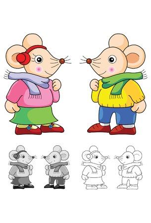 eastern zodiac: couple rat