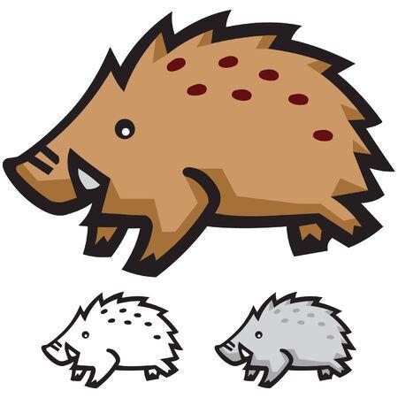 sanglier: Cochon Illustration