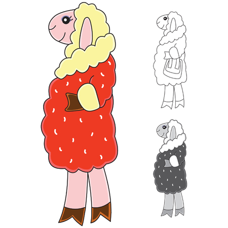 vector cartoons: sheep