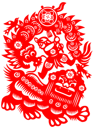 lion dance Illustration