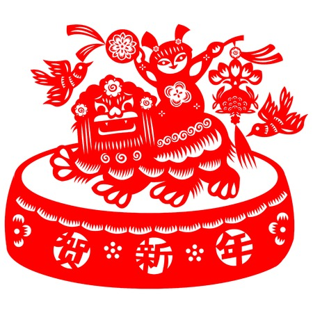 fortune graphics: lion dance Illustration