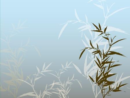 bamboe silhouet achtergrond Stock Illustratie