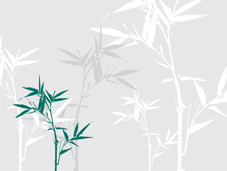 bamboo silhouette background Vector