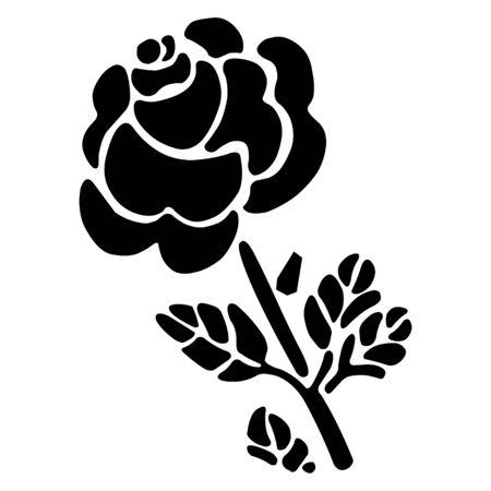 flora vector: Flower silhouette