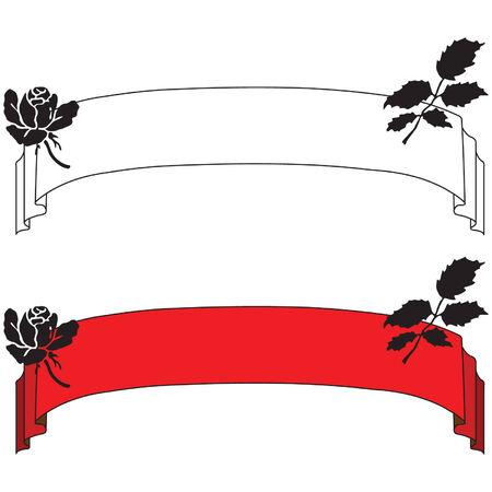 Flower silhouette banner Vector