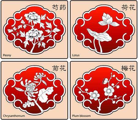 china landscape: cherry blossom