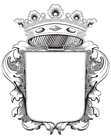 crown wings: Vintage frame