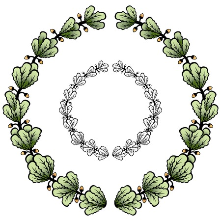 vectorized: Vectorized laurel wreath