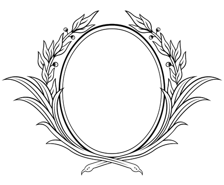 laurel leaf: Vectorized laurel wreath
