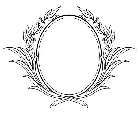 Vectorized laurel wreath