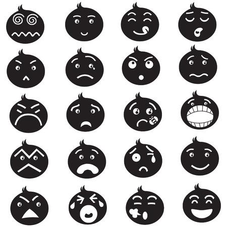 frowning: Emotion iconset Illustration