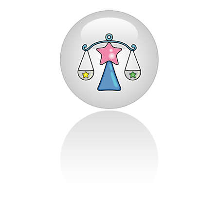 fortune telling: Zodiac icon - libra