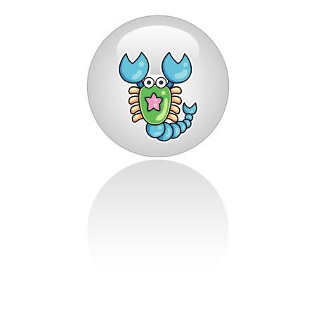 fortune telling: Zodiac icon - scorpio