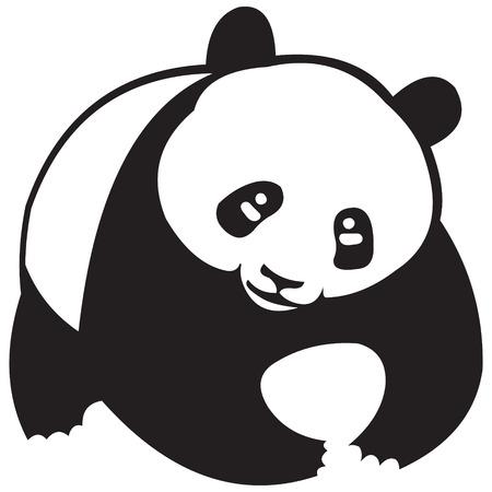 Panda silhouetten