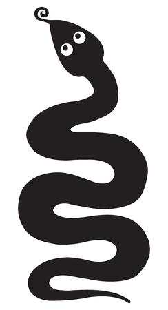 Snake silhouettes Stock Vector - 2364908