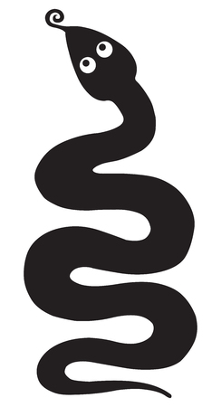 adder: Snake silhouettes Illustration