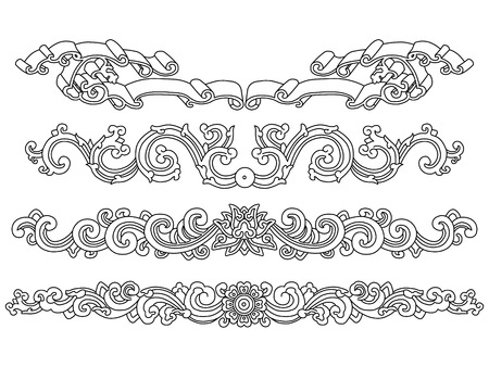 Chinese Art frame Elements Vector