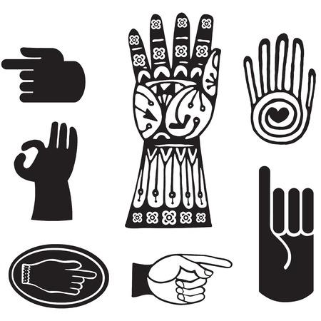 brotherhood: Hand elements graphic Illustration