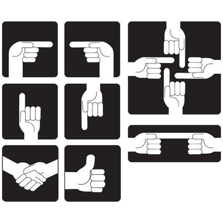 fellowship: A hand elements icon set Illustration