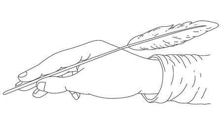 Writing Hand Stock Vector - 2367884
