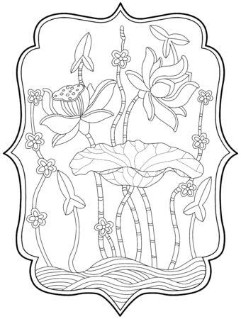 lotus silhouette Stock Vector - 2367951