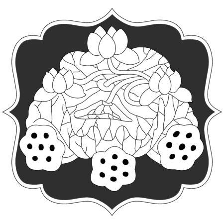 lotus silhouette Stock Vector - 2367910