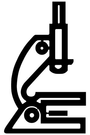 bacteria microscope: Microscope Illustration