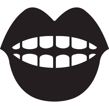 mouth symbol Ilustrace