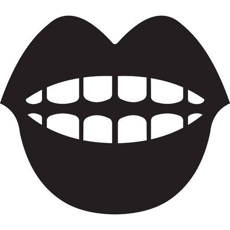 oral communication: mouth symbol Illustration