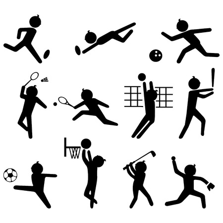 team sports: Sport icon set  Illustration