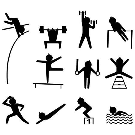Sport icon set  Stock Illustratie