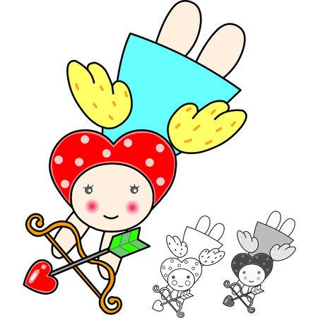 Cute Valentine cartoon Stock Vector - 2402786