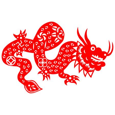chinoiserie: Paper cut dragon